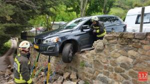 Así quedó el vehículo accidentado en Potes
