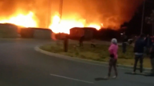 El incendio ha destruido 150 infraviviendas