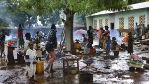 Imagen de refugiados en la República Centroafricana