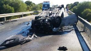 Imagen del accidente en Cádiz