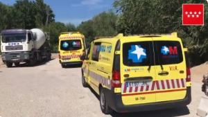 Las asistencias han acudido al lugar del accidente para tratar al herido