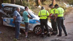 Imagen de archivo de un accidente de rally