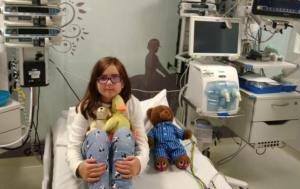 Imagen de la menor en un centro médico