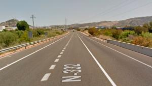 Imagen de la N-332 a su paso por Ondara