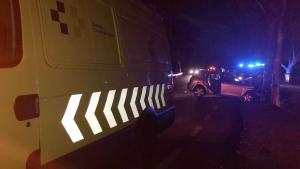 Imagen del accidente en la carretera de El Médano