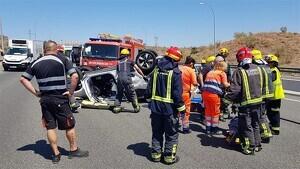 Dos personas han resultado heridas tras un accidente en la A-7