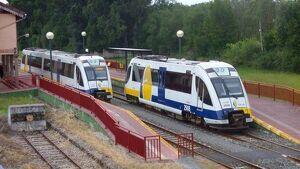 Trenes de la línea Feve Ferrol-Ribadeo