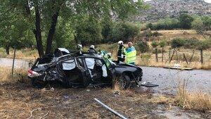 Cuatro personas han resultado heridas, una muy grave, en un accidente de tráfico en la A-1