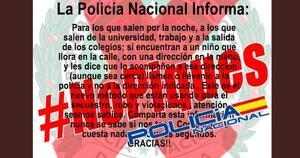 La Policía Nacional advierte de un nuevo bulo
