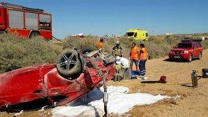 Un hombre y una mujer han resultado heridos durante el accidente de tráfico