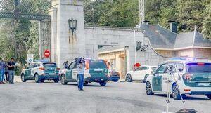 Imagen de la Guardia Civil entrando en el Valle de los Caídos
