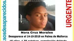 Imagen de Nora, la joven desaparecida.