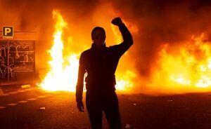 Imagen de uno de los actos bandálicos en Barcelona