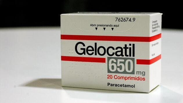 Caja de Gelocatil de 650 miligramos
