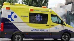 Ambulancia de Soporte Vital Básico en el País Vasco.