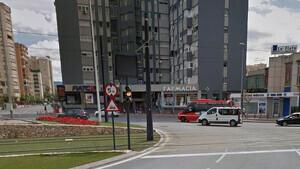 La pandilla circulaba por la rotonda Juan XXIII de Murcia cuando se produjo el accidente