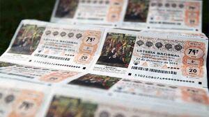 Imagen de números de la Lotería Nacional.