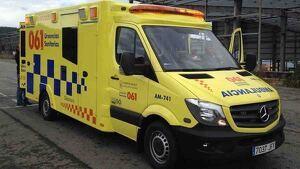 Ambulancia del GES en Galicia