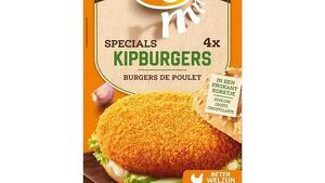 Paquete de cuatro hamburguesas de pollo de Mora Kipburgers