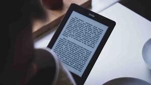 eBook con un texto.