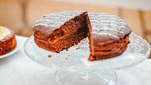 Tarta de chocolate.