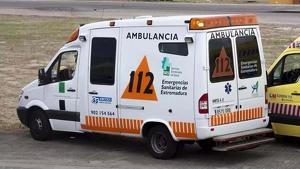 Una ambulancia del 112 - Servicio Extremeño de Salud