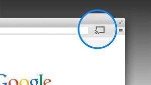 Icono de envío de contenido de Chromecast.