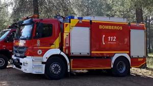 Imagen de archivo de un camión de bomberos de Sevilla