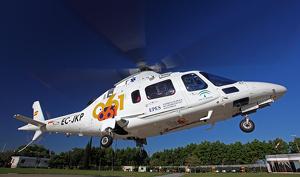Imagen de un helicóptero del EPES andaluz