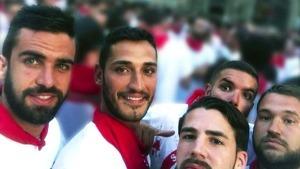 Imagen de los cinco integrantes de La Manada