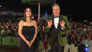Roberto Herrera y Ruth Lorenzo en las Campanadas canarias