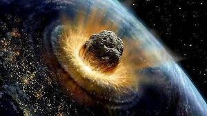 Imagen representativa de un asteroide impactando contra la Tierra