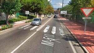 Imagen de la calle carretera de Colmenarejo de Galapagar, Madrid