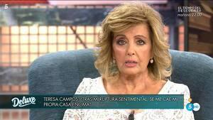 María Teresa Campos con los ojos llorosos hablando de Edmundo