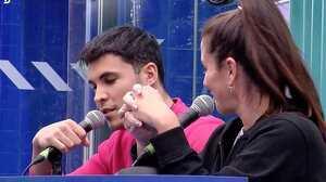 Kiko Jiménez y Estela Grande en la radio de 'El tiempo del descuento'