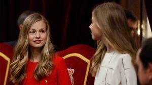 La princesa Leonor y la infanta Sofía en la ceremonia apertura de del Congreso de los Diputados, el 3 de febrero del 2020