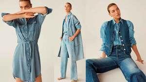 Fotomontaje de varios diseños y estilismos con prendas vaqueras