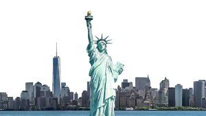 Estatua de la libertad y skyline de Nueva York
