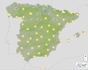 Mapa de previsión en España el 4 de febrero del 2020