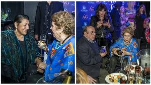 María Jiménez, en la fiesta de su 70 cumpleaños bebiendo champán con amigos