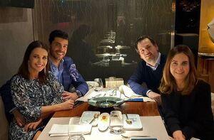 Paula Echevarría y Miguel Torres cenando con unos amigos el 12 de febrero de 2020