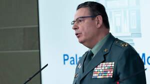 Laurentino Ceña, número 2 de la Guardia Civil da positivo en Covid-19.