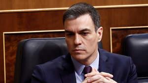 El presidente del Gobierno, Pedro Sánchez, durante el pleno extraordinario para explicar la declaración del estado de alarma.