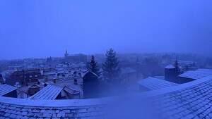 Nevada matinal en Segovia
