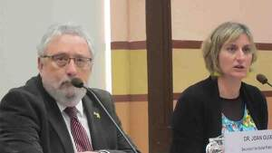 Joan Guix, durante la rueda de prensa en la que ha dicho cómo se originó el brote de Igualada el 20 de marzo de 2020