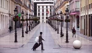 Imagen de las calles de Málaga vacías por el coronavirus