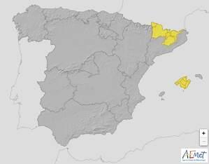 Mapa de alertas en España el 26 de marzo de 2020