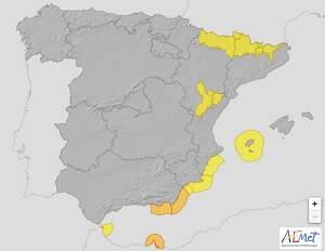 Mapa de alertas en España el 25 de marzo de 2020