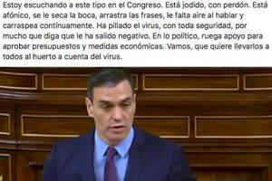 Pedro Sánchez con un aspecto poco saludable