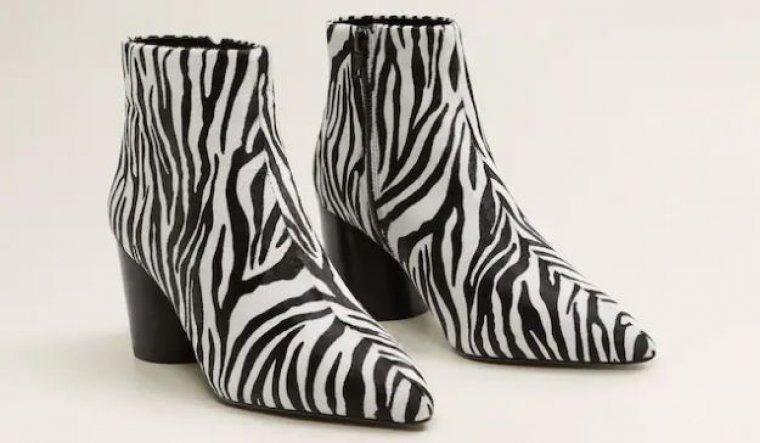 b4951d1ce Paula Echevarría lleva los botines  animal print  de Mango que ya se ...